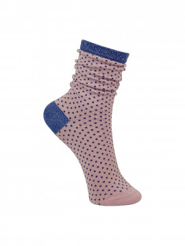 Black Colour Lurex fancy dot sock - Babyrose