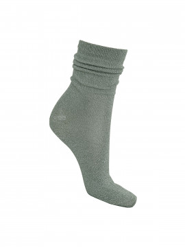 Black Colour Lurex sock - Olive