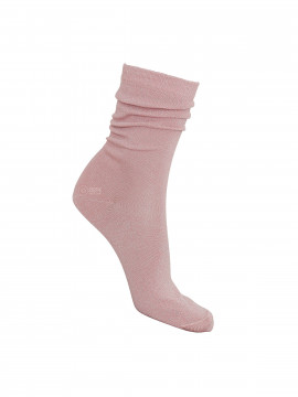 Black Colour Lurex sock - Rose silver