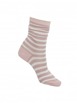 Black Colour Street stripe sock - Rose