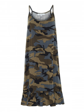 Continue Mia strap dress - Army Camuflage