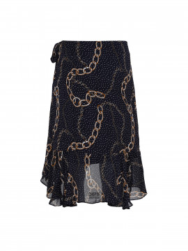 Continue Lisa chain wrap skirt - Navy