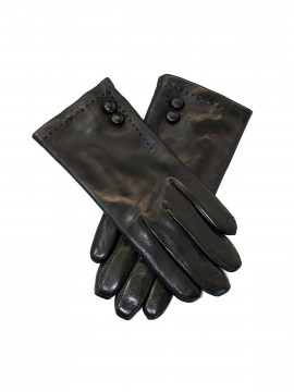Randers handsker Lamb w/ 2 buttons - gloves - Black