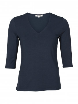 Blue on Blue Femme Vina v-neck top - Blue
