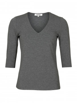 Blue on Blue Femme Vina v-neck top - Grey