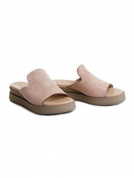 Blue on Blue Rome slippers - Nude