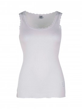 Saint Tropez Silk Lace top - White
