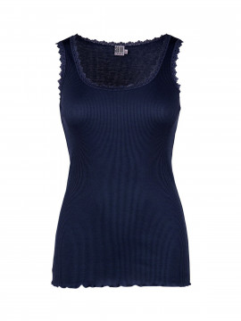 Saint Tropez Silk Lace top - Navy
