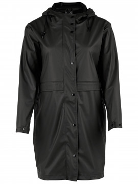 Saint Tropez Functionel rain coat - Black