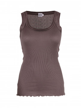 Saint Tropez Silk tank top - Sparrow brown