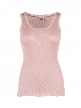 Saint Tropez Silk Lace top - Rose