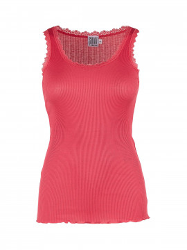 Saint Tropez Silk Lace top - Red