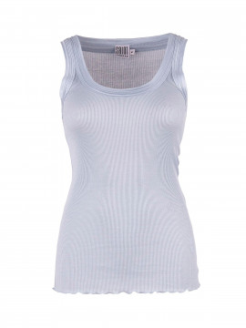 Saint Tropez Silk tank top - Ice blue