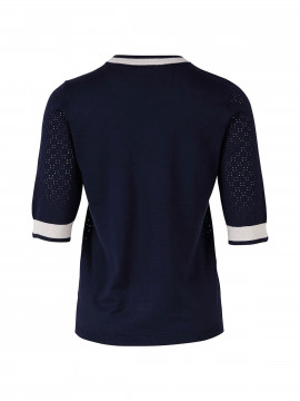 Saint Tropez Pointell S/S knit - Navy