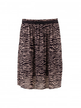 Saint Tropez Zebra animal P skirt - Black