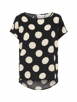 Saint Tropez Sharon big dot top - Black
