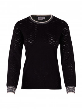 Saint tropez Laura L/S knit - Black