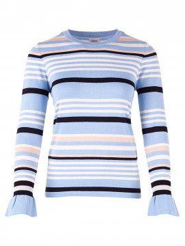 Saint tropez Lea stripe knit - Pl.Blue