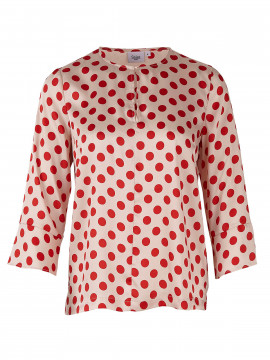 Saint tropez Frida dot top 3/4 SL - Red