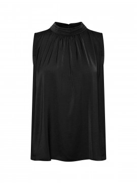 Saint tropez Aileen turtleneck top - Black