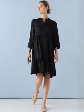 Saint tropez Freise dress - Black