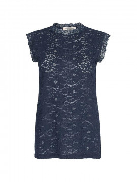 One Two Luxzuz Ady lace top - Dark Navy