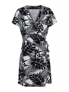 One Two Luxzuz Chanett wrap dress - Black