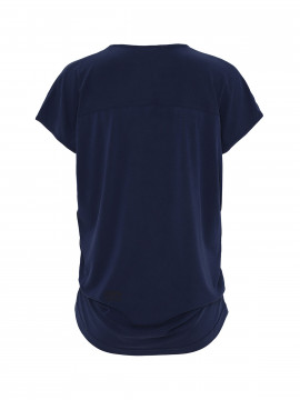 One Two Luxzuz Dunja Tee V-neck - Dark navy