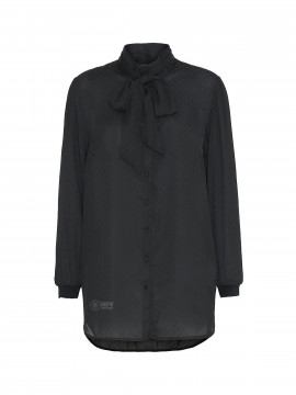 One Two Luxzuz Gilda long shirt - Black