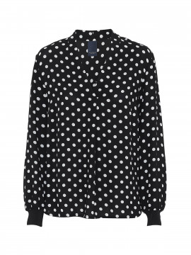 One Two Luxzuz Inge dot top - Black