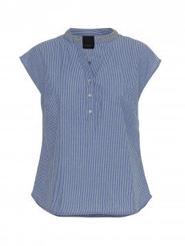 One Two Luxzuz Konnu stripe top - Used denim