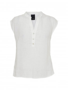 One Two Luxzuz Kika linnen top - White