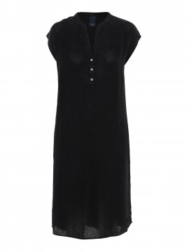 One Two Luxzuz Kikari linnen dress - Black