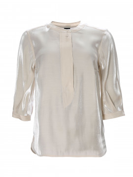 One Two Luxzuz Maggia shine top - Cream