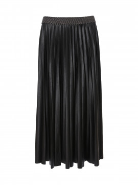 One Two Luxzuz Madalena coated skirt - Black