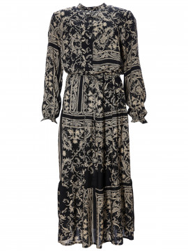 One Two Luxzuz Géraldine paisley dress - Caviar