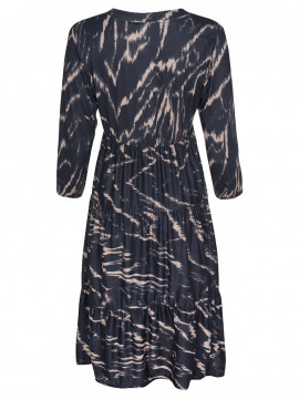 One Two Luxzuz Larisana print dress - Camel