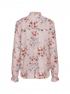 One Two Luxzuz Djami flower L/S top - Dusty pink