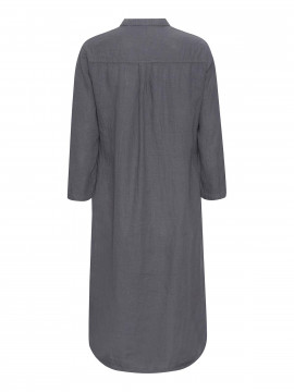 One Two Luxzuz Kimi linnen dress - Slate grey