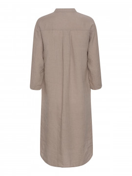 One Two Luxzuz Kirta linnen dress - Cinnamon