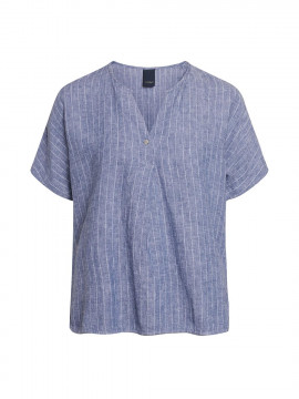 One Two Luxzuz Hellith S/S top - Indigo blue