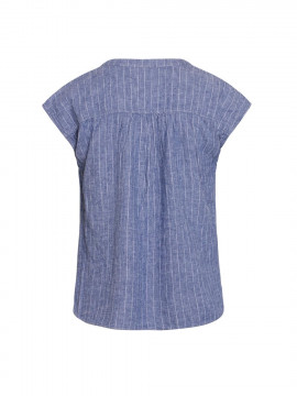 One Two Luxzuz Kika stripe top - Indigo blue