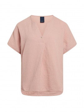 One Two Luxzuz Helia S/S top - Powder rose