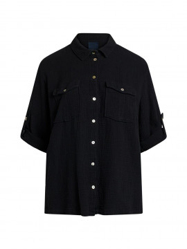 One Two Luxzuz Raymonde 3/4 shirt - Black