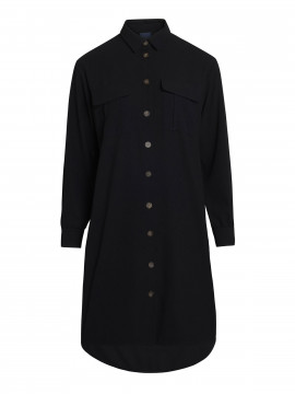One Two Luxzuz Sally shirt dress - Black