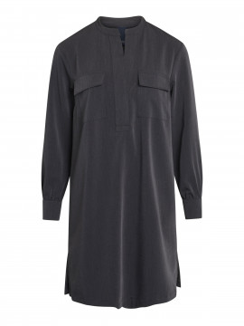 One Two Luxzuz Sessa shirt dress - Dark grey melange