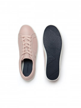 Lacoste Straightset 118 leather trainers - Natural