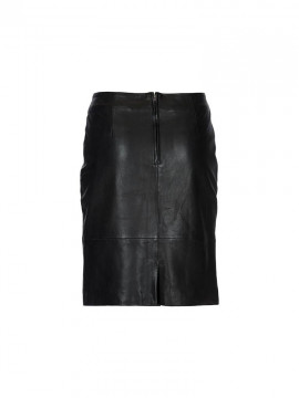 Depeche Rome leather skirt - Black
