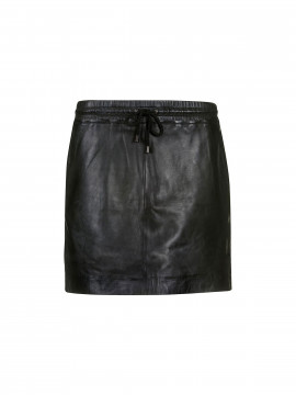 Depeche Prag short leather skirt - Black