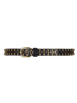Depeche Jay narrow studs belt - Gold
